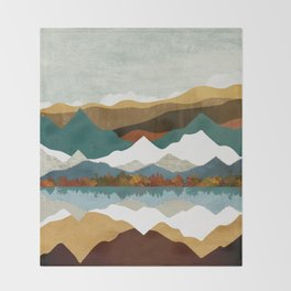 Winter Lake Throw Blanket