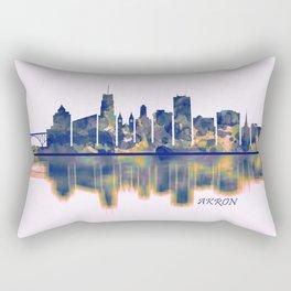 Akron Skyline Rectangular Pillow