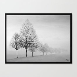 Fading Trees Canvas Print