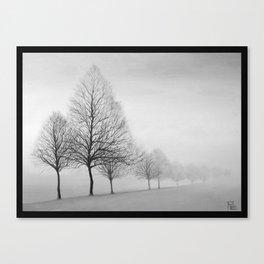 Fading Trees Canvas Print