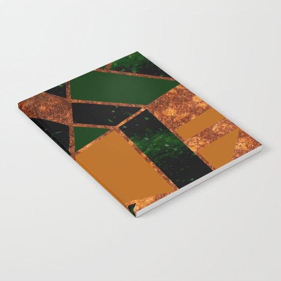 #455 Gold & Pothos Notebook