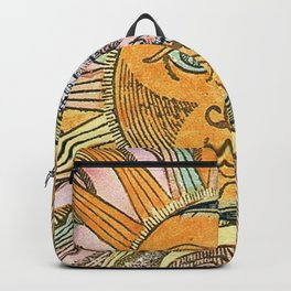 Sun and Moon Face Backpack