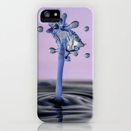 Blue water flower waterdrop iPhone Case