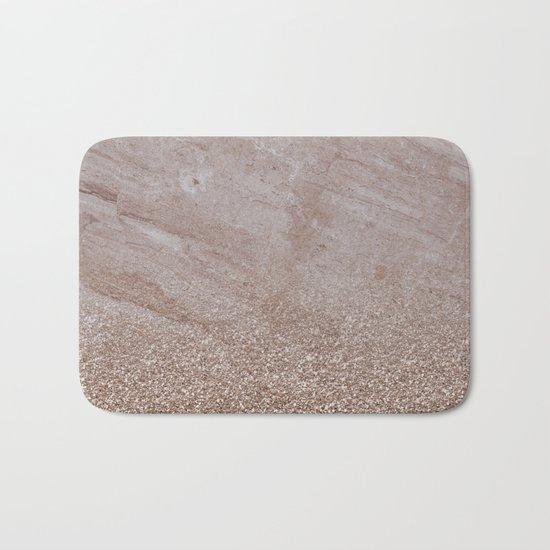 Beige shimmer marble gradient Bath Mat