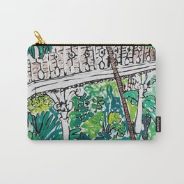 Kew Gardens Jungle Botanical Painting Greenhouse Carry-All Pouch