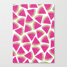 Watermelon pattern Canvas Print