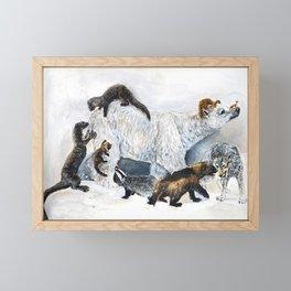 Awesome mustelids Framed Mini Art Print