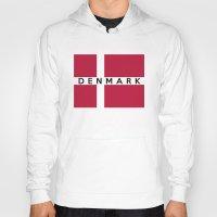 denmark Hoodies featuring Denmark country flag name text by tony tudor