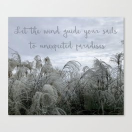 Let the Wind Guide Your Sails Canvas Print