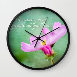 Go With Your Heart Wall Clock