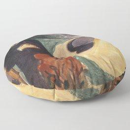 Separation by Edvard Munch Floor Pillow