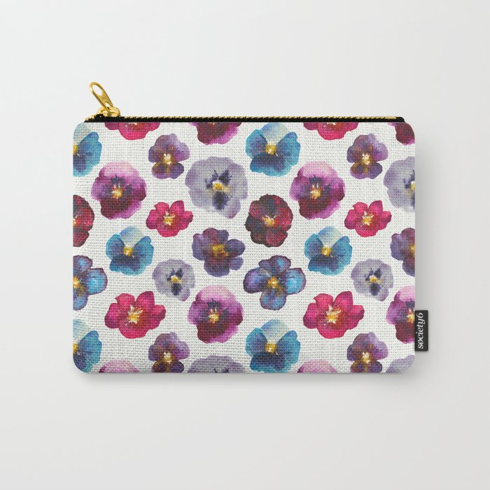 Watercolor violets Carry-All Pouch