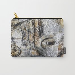 Metallic Melodrama II - Mixed Media Beeswax Encaustic Acrylic Abstract Modern Fine Art, 2015 Carry-All Pouch