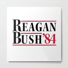 Reagan Bush 84 Metal Print