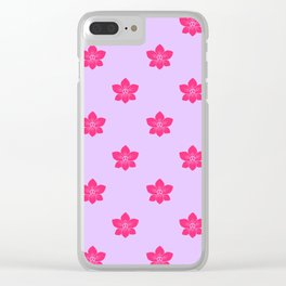 Pink orchid pattern Clear iPhone Case