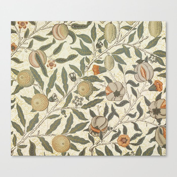 William Morris Fruit Pattern Leinwanddruck