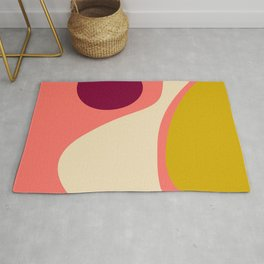 abstract composition 2 - modern blush pink Rug