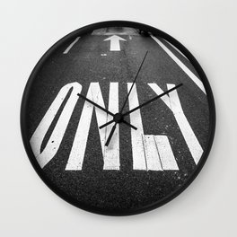 The Only Way Wall Clock