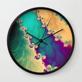 Coloured Smoke Trails Wall Clock