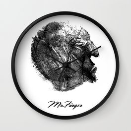 Mr. Finger Face Old Man Wall Clock