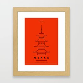 Minimal Osaka City Poster Framed Art Print
