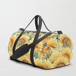 Vintage Garden (Sunflower Paradise) Duffle Bag