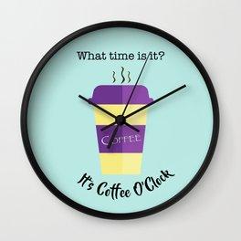 Coffee O'Clock Wall Clock
