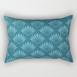 Art Nouveau,Teal,metallic,art deco, fan pattern,chic,vintage,victorian,belle epoque,trendy,modern,elegant Rectangular Pillow