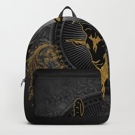 Billygoat in black and gold Backpack