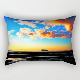 Belfast Ferry at Sunset Rectangular Pillow