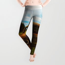 Rustic Truck | Modern Farmhouse Old West Country Decor Leggings