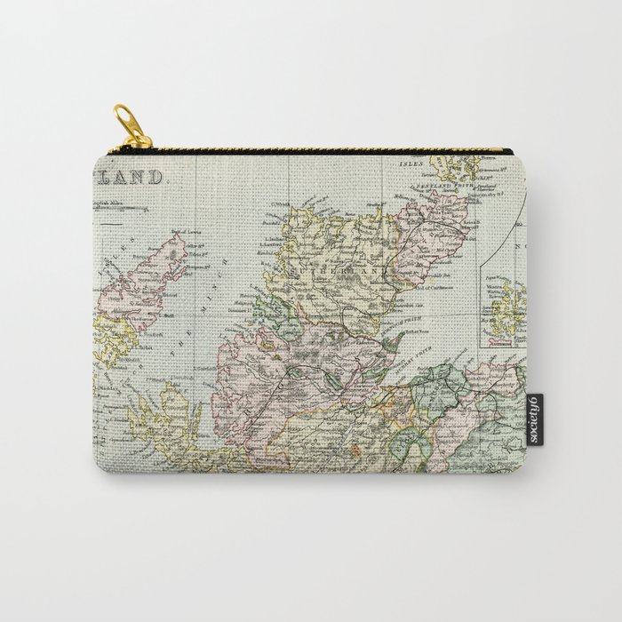 Scotland Vintage Map Carry-All Pouch