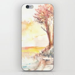 Watercolor Landscape 03 iPhone Skin