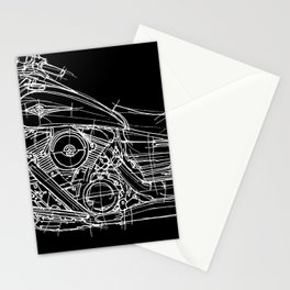 Vulcan 1600 original handmade drawing, gift for bikers Stationery Cards