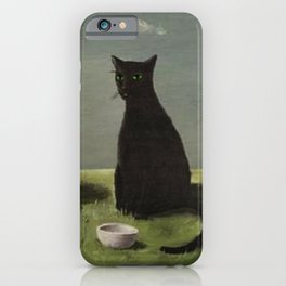 Three Cats with Clouds That Follow Them Everywhere by Gertrude Abercrombie iPhone Case