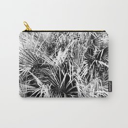 Palm Fronds In Black and White Abstract Photography Carry-All Pouch