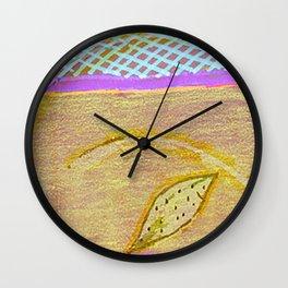 three flowers Wall Clock