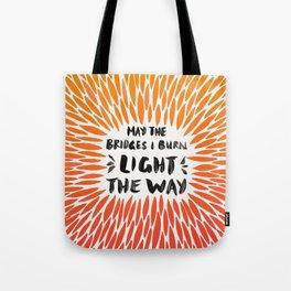 Bridges Burned – Fiery Palette Tote Bag