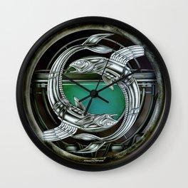 """""""Astrological Mechanism - Pisces"""" Wall Clock"""