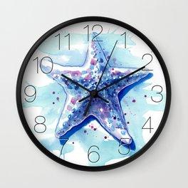 Starfish Waters I Wall Clock