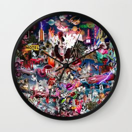 Pink Submarine Wall Clock