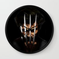 x men Wall Clocks featuring x men by Fila Venom Art