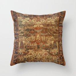 Buddhist Mandala Taima Motif Throw Pillow