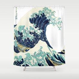Kanagawa Japanese The great wave T shirt Shower Curtain
