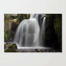 Waterfall at Lumsdale Mill Canvas Print