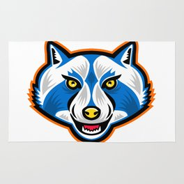 North American Raccoon Mascot Rug