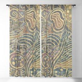 sealife marble Sheer Curtain