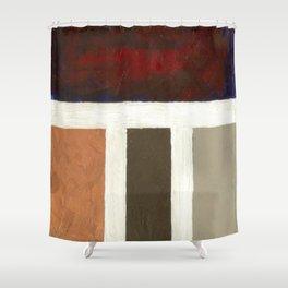 Textured Cubism -Modern Art - Color Blocking Art - Hospitality Art - Corbin Henry Shower Curtain
