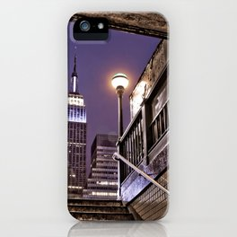 Empire State Subway - New York Photography iPhone Case