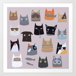 Cats comunity Art Print